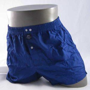 effen blauwe boxershot van het merk McAlson.