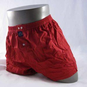 effen rode boxershort van het merk Mcalson.