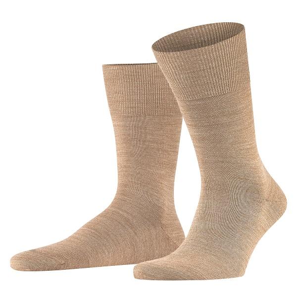 Sokken in beige melee van het merk Falke.