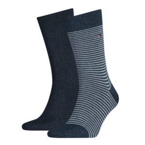 Tommy Hilfiger 2-pack Sokken Jeans/Streep