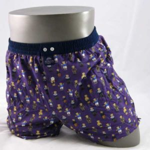 paarse boxershort bedrukt met beren van het merk McAlson.