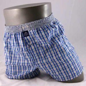 Geruite boxershort met drankglaasjes op de band.