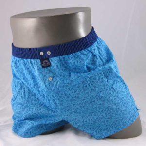 blauwe boxershort cheers van het merk McAlson bedrukt met drankglaasjes en citroenen.