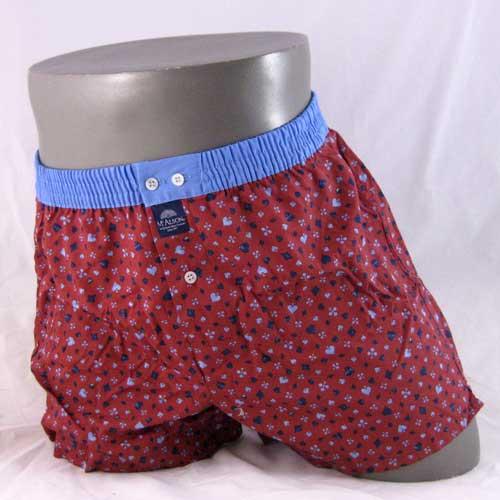 mcalson boxershort 3664 in rood met blauwe band.