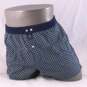 Wijde boxershort van het merk McAlson met wiebertjes patroon.