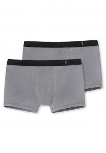 SCHIESSER Heren 2-pack boxershorts - Grijs