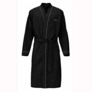 HUGO BOSS badjas - kimono-stijl - zwart