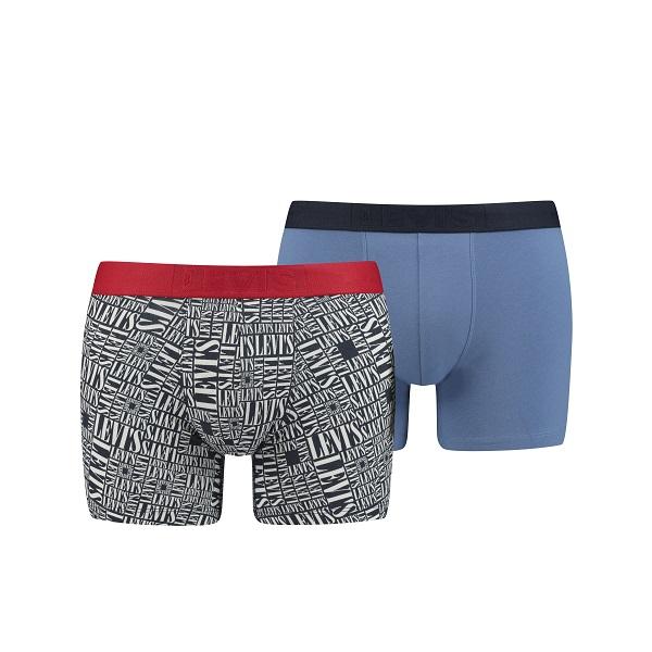 Levi's 2-pack Boxershorts - Logo / Blauw
