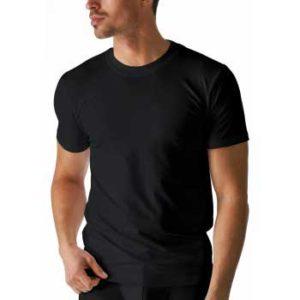 Dit Mey heren T-shirt hoge boord zwart - Dry Cotton 46003