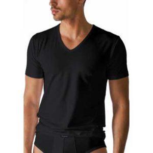 Mey heren V-hals T-shirt - serie Dry cotton -zwart
