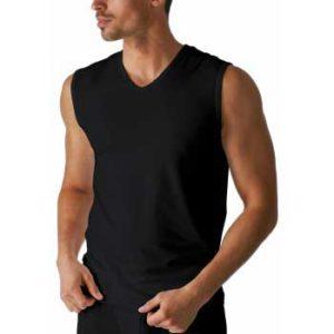 Mey heren mouwloos shirt - Serie Dry cotton - zwart