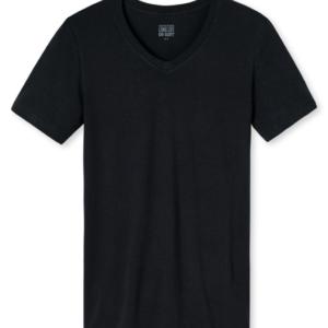 Schiesser Long Life Soft T-shirt- V-neck- Blauwzwart