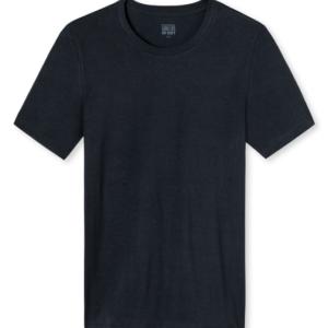 Schiesser heren- Long Life Soft T-shirt ronde hals- Blauw