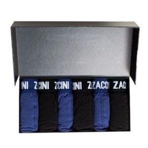 Zaccini 6-pack Boxershorts - Donkerblauw / Zwart