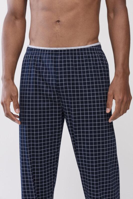 Mey heren lounge-pyjamabroek - donkerblauw/witte ruit