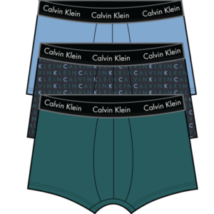 Calvin Klein 3-pack boxershorts, low rise trunk Blauw-groen REM