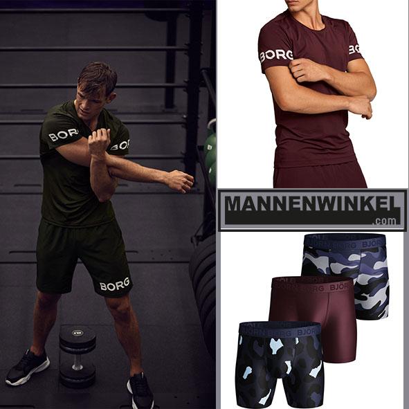 Sportieve mannen dragen Björn Borg boxershorts van Mannenwinkel.com