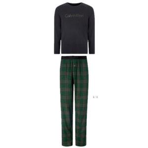 Calvin Klein lounge-wear set groen-zwarte ruit