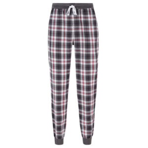 Hugo-Boss-heren-pyjama-lounge-broek-ruit-grijs