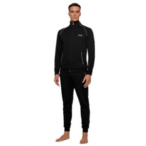 Hugo Boss lounge-jogging set zwart-goud