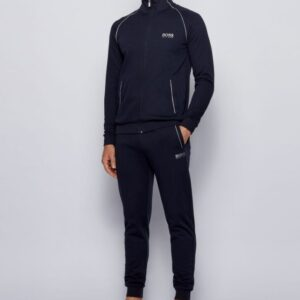 Hugo Boss lounge-jogging set blauw-zilver