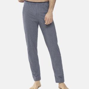Mey heren pyjama/loungebroek- donkerblauw grijs hounds-tooth