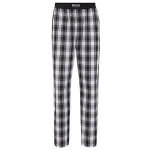 hugo boss pyjamabroek zwart wit ruit