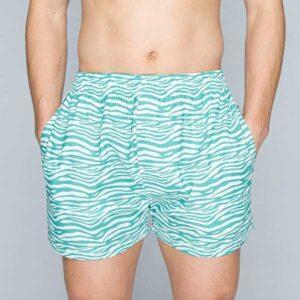 pockies wijde boxershorts met steekzakken zebra print
