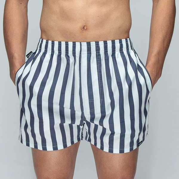 pockies organic boxershort big navy stripes