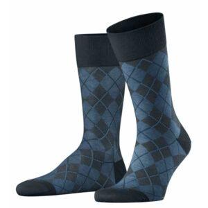 burlington sokken carrington blauw