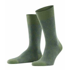 burlington carrington khaki sokken