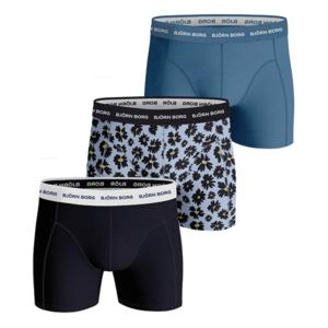 Björn Borg 3-pack flower cotton stretch boxershorts - blauw