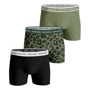 Björn Borg 3-pack flower cotton stretch boxershorts - green
