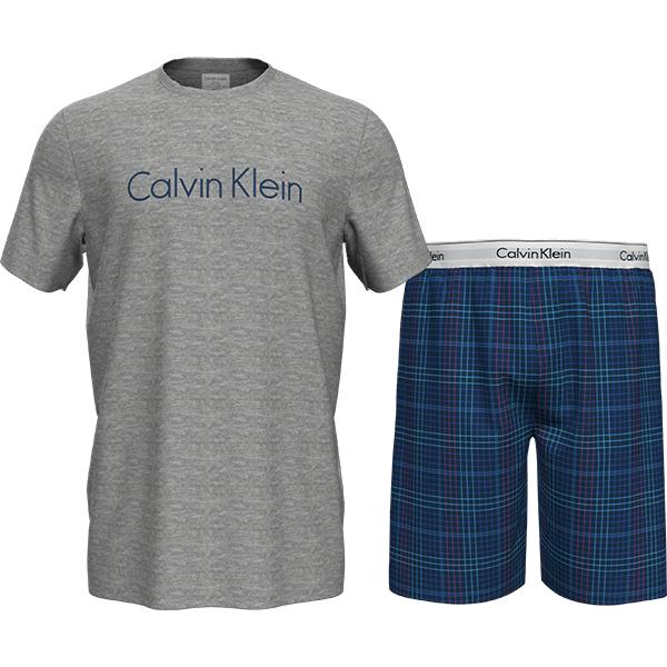 Calvin-Klein-pyjama-shortama grey/blue