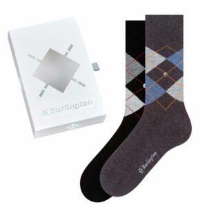 burlington giftbox heren sokken zwart grijs