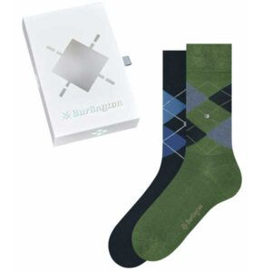 burlington giftbox heren sokken groen blauw