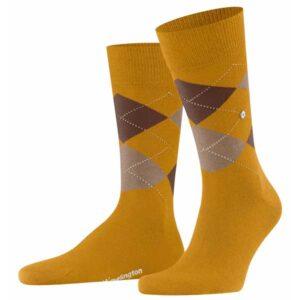 burlington edinburgh heren sokken mustard