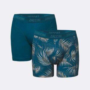 zaccini boxershorts palm leaves bedrukt met palmbladeren